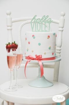 Project Nursery - Confetti Cake for this Flamingo Sip and See Party
