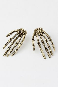 Skull Hand Shaped Earrings #fashiondrop