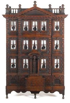 Forster baby house, beautiful style and design. .....Rick Maccione-Dollhouse Builder www.dollhousemansions.com