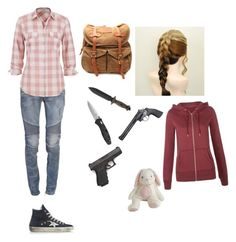 """""""The Last of Us"""" by rainbowchanrawr on Polyvore featuring Balmain, maurices, Golden Goose and VIPARO"""
