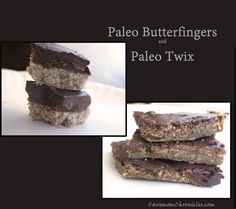 Paleo Butterfingers and Paleo Twix