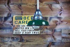 Vintage 30s Benjamin Explosion Proof Industrial Pendant Light Gas Station Barn 5