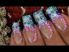 Mermaid Tail  Pattern Nail Art Design Tutorial w/ iwanted2c1video