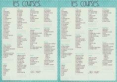 Liste de courses vierges à imprimer de couleur bleu turquoise.