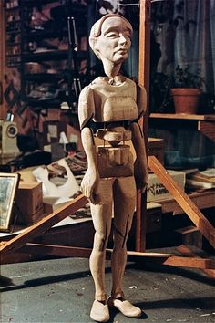 Pierrot marionette, by Ronnie Burkett, made in the studio of Martin Stevens, 1981