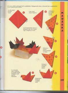 vogels vouwen met kleuters