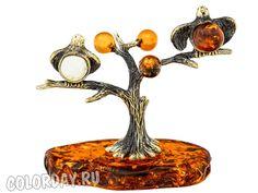 """фигурка """"Птички Невелички на Дереве"""" Baltic Amber"""