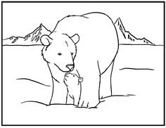 Printable Polar Bear Coloring Pages Kids