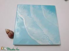 Kék hullámzó tenger műgyanta festmény  (NaxaDesign) - Meska.hu