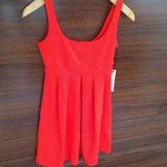 New Susana Monaco Pleat Dress in Fiery Red at Veruca Salt