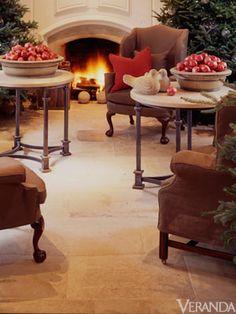 Top 10 Design Tips - Nancy Braithwaite - Veranda.com. Paris Ceramics limestone floor