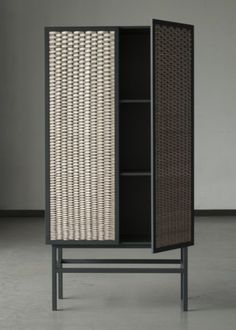 Chudy and Grase Wicker Cabinet