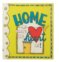 C.R. Gibson Refillable Address Book, Home Is Where The Heart Is (A1-12569)