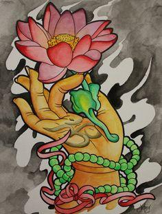 myrealnameisraven:  Buddha Lotus by Justin Cunningham