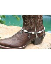 White ovals and crosses Boot Candy