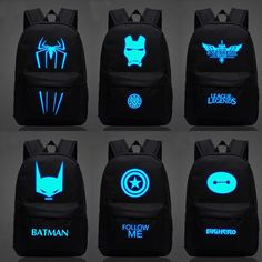 Iron Man backpack luminous small monster Backpack Bag Superman low-key white boy and girl Iron Man Backpack, Men's Backpack, Kids Backpacks, School Backpacks, Geeks, Marvel Backpack, Monster Backpack, Princesas Disney, Cartoon Kids