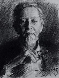 Richard Schmid by Pramod Kurlekar Portrait Sketches, Portrait Art, Drawing Sketches, Art Drawings, Face Proportions, Fine Art Drawing, Ap Art, Pebble Painting, Famous Artists