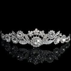 Gorgeous Diamante Flower Embellished Hairwear For Bride