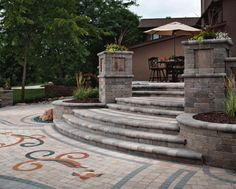 35 Inspiring Backyard Patio Designs With Pavers Go DIY Home extremely appreciates all sorts of copyright, all photos and pictures on our website is photos that are public domain right, we have a tendency to got it from the net… Continue Reading → Outdoor Patio Pavers, Paver Walkway, Landscaping Costs, Paver Designs, Concrete Pavers, Backyard Patio Designs, Backyard Projects, Outdoor Living Areas, Diy Pergola