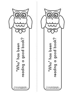 adorable owl bookmarks!                                                                                                                                                                                 More