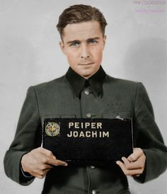 Joachim Peiper (1915-1976) was SS-Standartenführer in the Waffen-SS during World War II and personal adjutant to Heinrich Himmler between November 1940 and August 1941. He was charged with war crimes involving the murder of 84 surrendered U.S. troops...