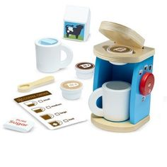 Shop Melissa & Doug Brew & Serve Wooden Coffee Maker Set (Play Kitchen Accessories, Encourages Imaginative Play, 12 Pieces, cm H x cm W x cm L). Free delivery and returns on eligible orders of or more. Play Kitchens, Cool Kitchens, Ikea Duktig, Play Kitchen Accessories, Kitchen Sets For Kids, Opening A Coffee Shop, Melissa & Doug, Play Food, Imaginative Play