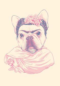 Poster Frida Dog do Studio Nak3l por R$40,00