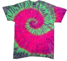 Tie Dye T-Shirts Multi-Color Adult Sizes, Short Sleeve, 100% Cotton.