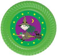 Tatlı Cadı Tabak Sticker, 15cm 8'li