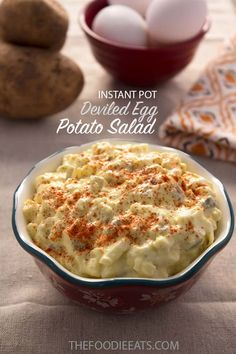 Latest No Cost potato egg salad instant pot Thoughts, Instant Pot Deviled Egg Potato Salad Pressure Cooker Potatoes, Using A Pressure Cooker, Instant Pot Pressure Cooker, Pressure Cooker Recipes, Pressure Cooking, Potato Salad With Egg, Egg Salad, Recipe For Deviled Egg Potato Salad, How To Cook Potatoes