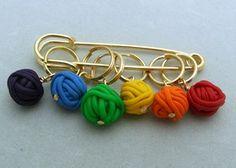 Clay yarn ball stitch markers