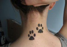 paw print tattoo on neck - Google Search