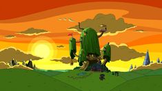 The  Best Adventure Time Background Images On