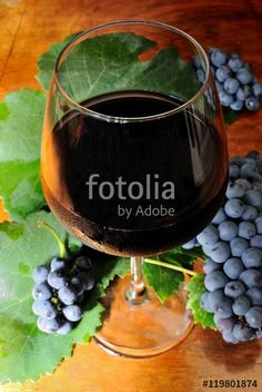 Calice di vino rosso Cesanese di Olevano Romano