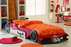 Red Formula 1 Childrens Grand Prix Racing Car 3ft Single Wooden Bed & Mattress  I need this for my son