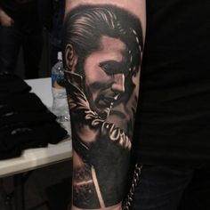 Not an Elvis fan really....but this a Nikko Hurtado tattoo...and we know everything he touches is gold. A huge fan of his work.  Elvis Tattoo by Nikko Hurtado