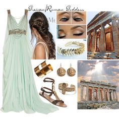"""Greican/Roman Goddess"" by kennidicole on Polyvore"