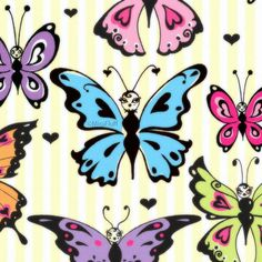 Miss Fluff 's candy colored butterflies
