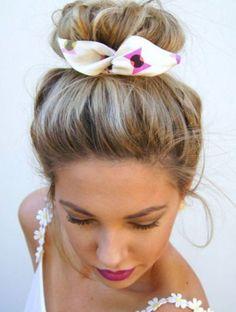 Les plus beaux chignons de Pinterest - Le foulard