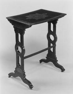 Modulo Mesa vintage (1860–70) Álamo, Madera, Modular, papel mache,