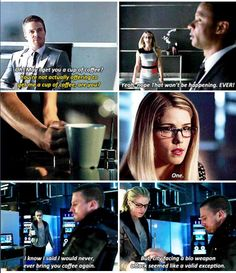 Arrow - Oliver & Felicity #Coffee #Olicity ♥