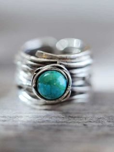 Zilveren ring turkoois http://bit.ly/w0aXXg (Silver ring turquoise)
