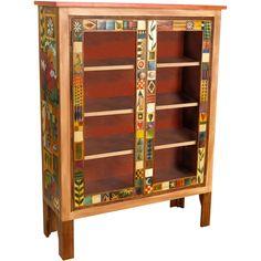 Sticks Large Double Door Bookcase BCS005-D70951, Artistic Artisan Designer Bookcases