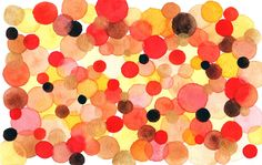 polka dots & bubbles--autumn: rich golds, reds, and browns of fall leaves