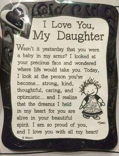 I Love My Daughter Quote Magnet quotes family daughter shop family quotes daughter quotes mom quotes buyable Mother Daughter Quotes, I Love My Daughter, My Beautiful Daughter, Mother Quotes, My Love, Happy Birthday Daughter From Mom, Proud Of You Quotes Daughter, Daughter Birthday Sayings, Graduation Quotes For Daughter