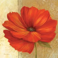 Flores rojas (arte decorativo) Póster en AllPosters.es