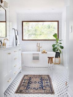 Black and white hexagon shaped mosaic bathroom tile. The post Prepare to Be Amazed by These 13 Mosaic Bathroom Floor Tile Ideas appeared first on Best Pins for Yours. Modern Boho Bathroom, Beautiful Bathrooms, Small Bathroom, Bathroom Ideas, Bathroom Makeovers, Bathroom Renovations, Shower Ideas, White Bathrooms, Master Bathrooms