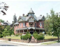 This architectural masterpiece features careful renovation of modernized kitchen and baths, while leaving unspoiled victorian charm intact.Home owners have… Architectural Salvage, Architectural Elements, Exterior Design, Interior And Exterior, Winding Staircase, Victorian Style Homes, Grand Foyer, Second Empire, Old House Dreams