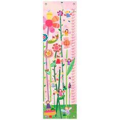 Cherry Blossom Birdies Canvas Growth Chart - #7Y465 | www.lampsplus.com