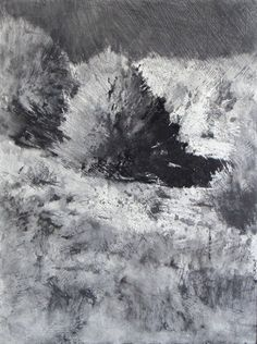 Lane Hall: ''Ode to Mehldau'' 8 x 6 x 1/2 '' graphite and gesso on panel